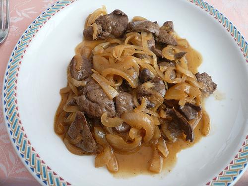 Cucina fegato alla veneziana