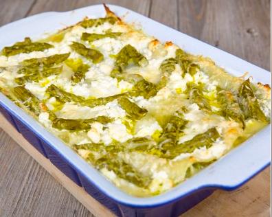 Ricetta: Asparagi e spinaci gratinati