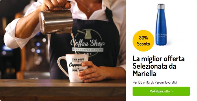 Promozione aziendale mediante omaggi personalizzati per il food & drink su Maxilia.it